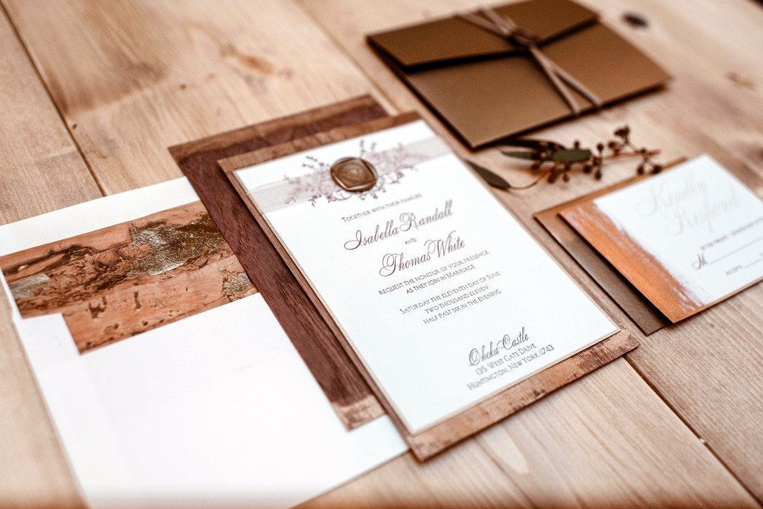 Rosalie Luxury Letterpress Wedding Invitations from Letterpress Jess