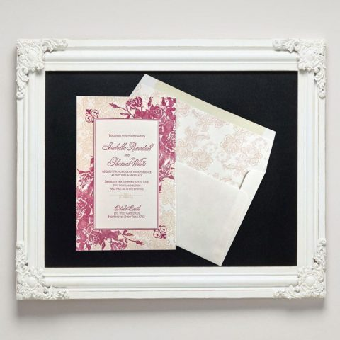 Andaluz Letterpress Wedding Invitations from Letterpress Jess