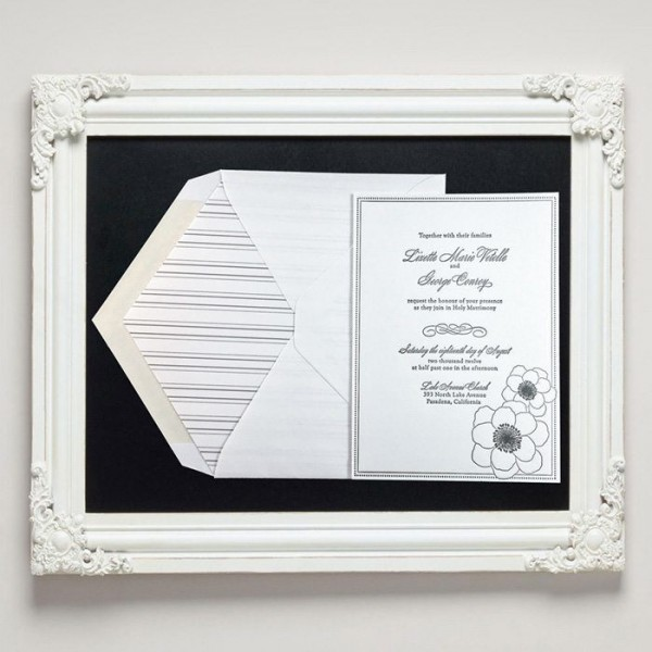 Anemone Letterpress Wedding Invitations from Letterpress Jess
