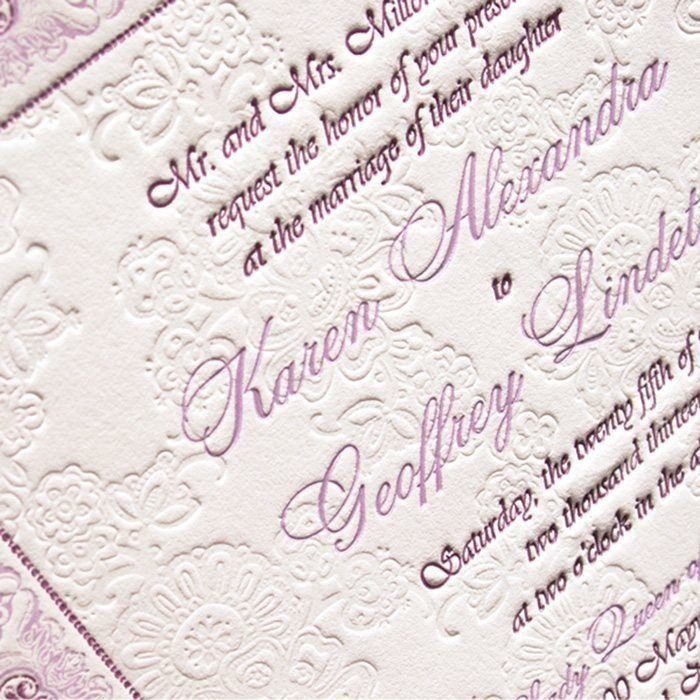 Order Luxury Letterpress Wedding Invite Samples