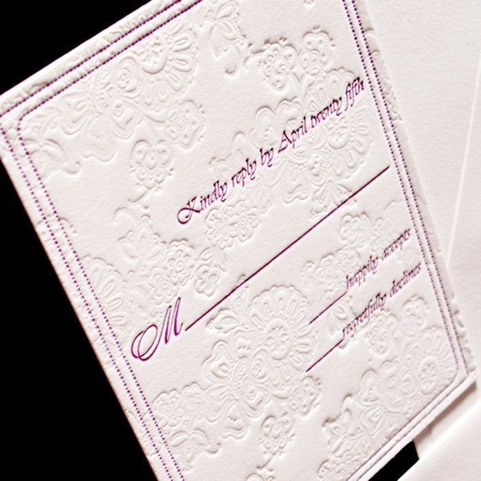 Brocade-Letterpress-Wedding-Response-Card-Close-Up