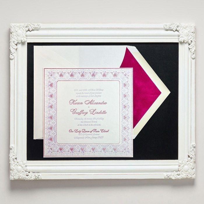 Brocade Letterpress Wedding Invitations from Letterpress Jess