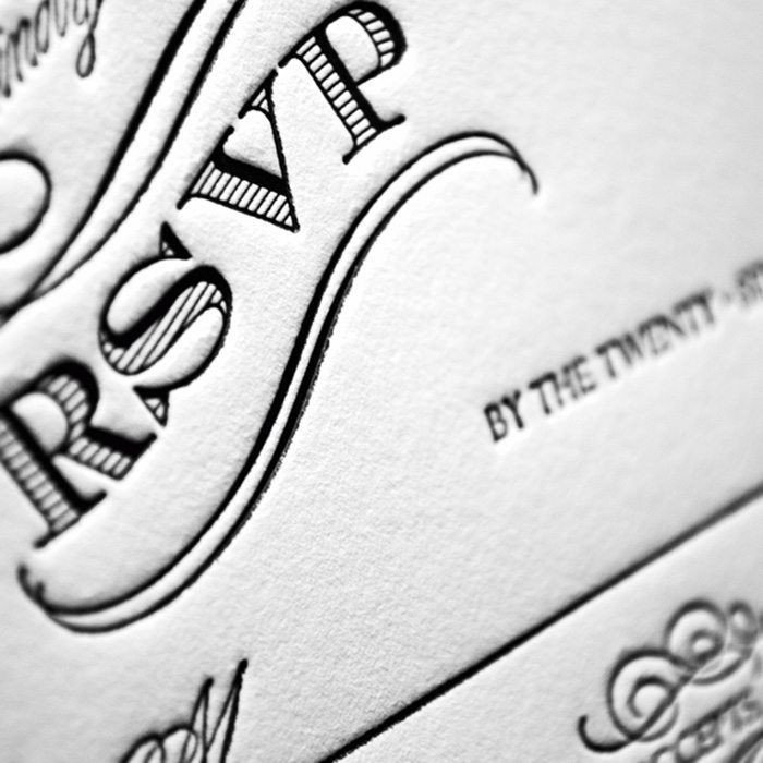 Chateau-Letterpress-Wedding-Response-Close-Up