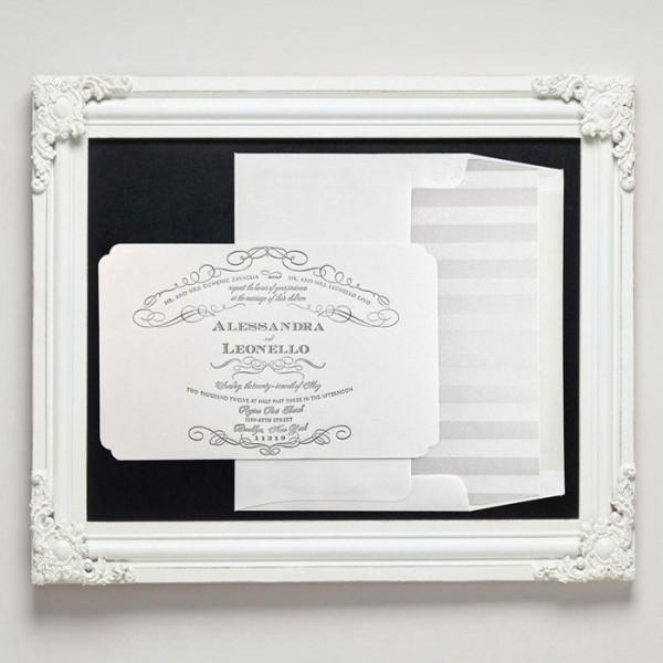 Chateau Letterpress Wedding Invitations from Letterpress Jess