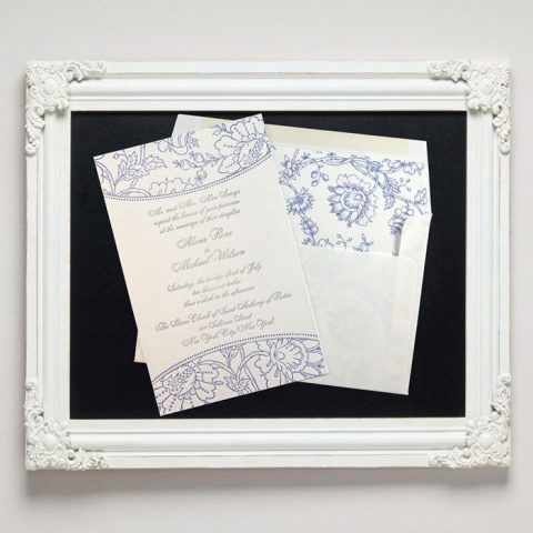 Embroidery Letterpress Wedding Invitations from Letterpress Jess