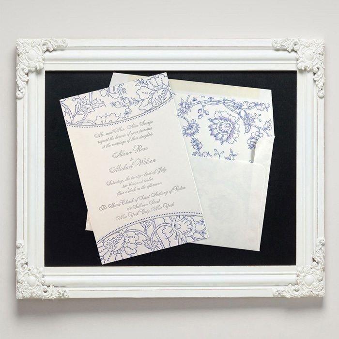 Embroidery Letterpress Wedding Invitations from Letterpress Jess