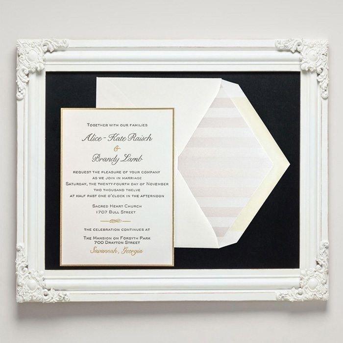 Forsyth Letterpress Wedding Invitations from Letterpress Jess