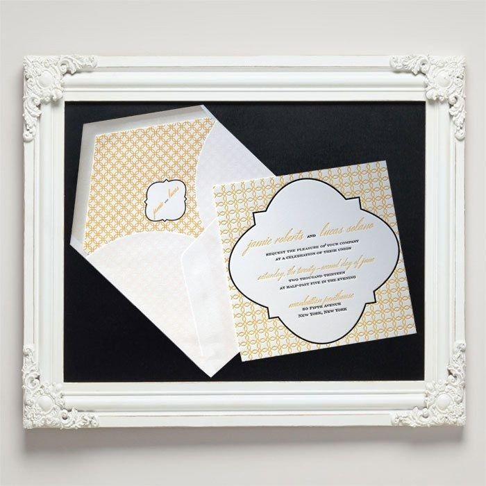 Grace Letterpress Wedding Invitations from Letterpress Jess