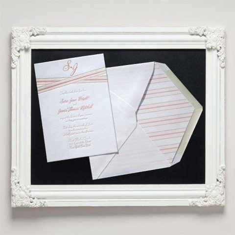 Grosgrain Letterpress Wedding Invitations from Letterpress Jess