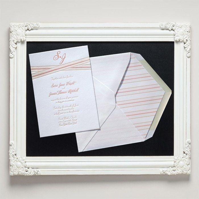 Grosgrain Letterpress Wedding Invitations from Letterpress Jess