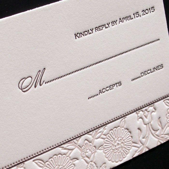 Hannah-Letterpress-Wedding-Response-Card
