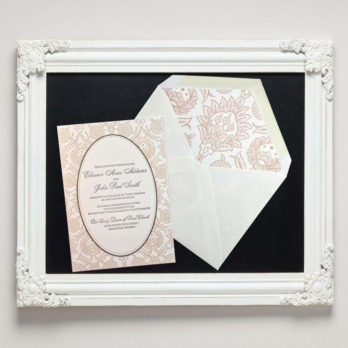 Hannah Letterpress Wedding Invitations from Letterpress Jess