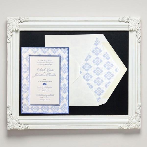 Hepplewhite Letterpress Wedding Invitations from Letterpress Jess