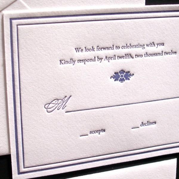 Hepplewhite-Luxury-Letterpress-Wedding-Response-Card