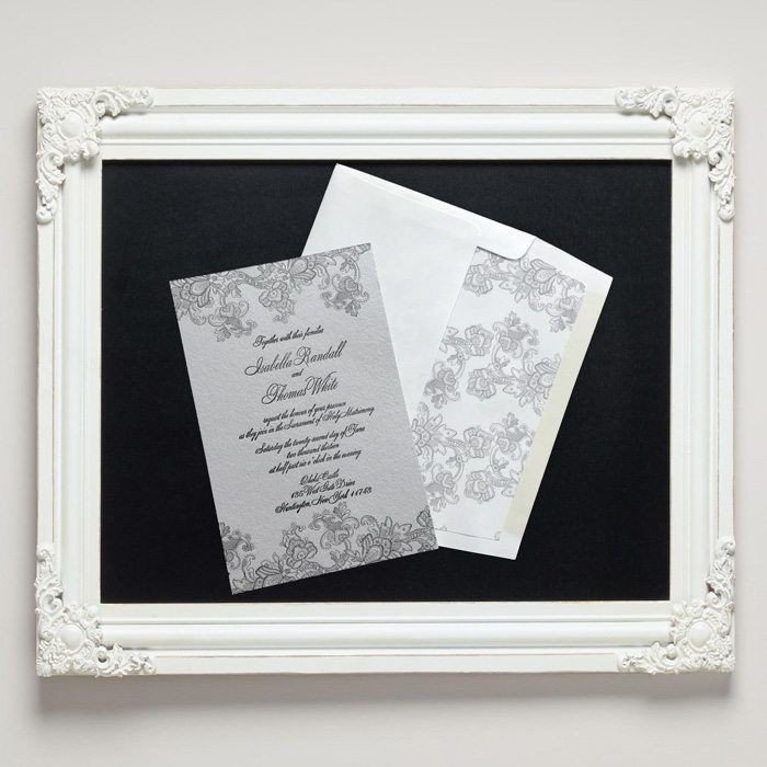 Isabella Letterpress Wedding Invitations from Letterpress Jess