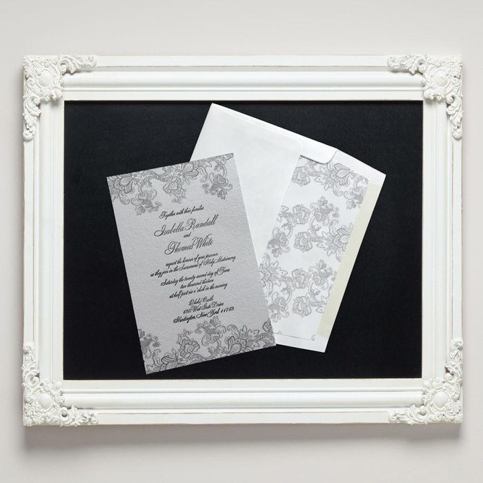 Isabella Letterpress Wedding Invitations from Letterpress Jess