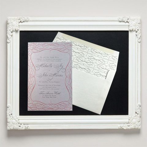Mademoiselle Letterpress Wedding Invitations from Letterpress Jess