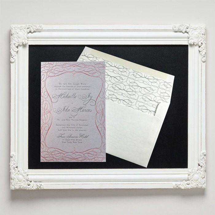 Mademoiselle Letterpress Wedding Invitations from Letterpress Jess
