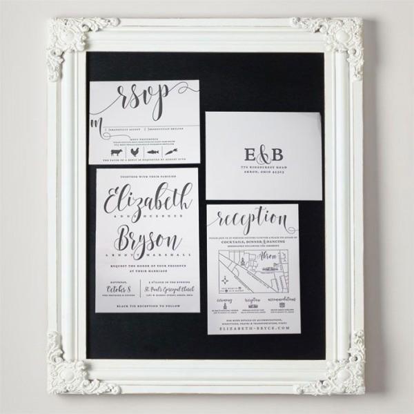Marshall Letterpress Wedding Invitations from Letterpress Jess