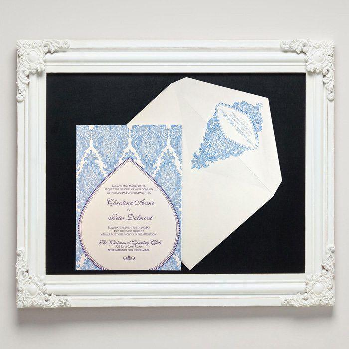 Morocco Letterpress Wedding Invitations from Letterpress Jess
