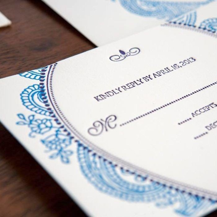 Morocco-Luxury-Letterpress-Wedding-Response-Card-Detail