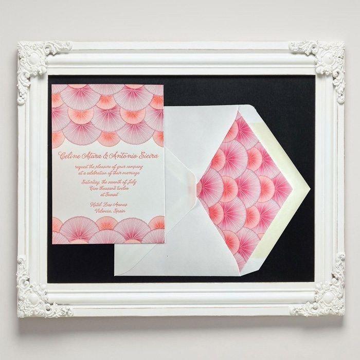 Onda Letterpress Wedding Invitations from Letterpress Jess