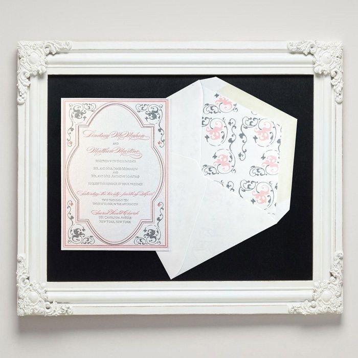 Parisienne Letterpress Wedding Invitations from Letterpress Jess
