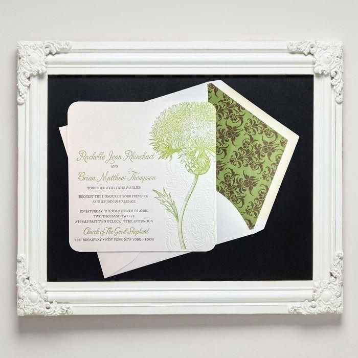 Rustic Romance Letterpress Wedding Invitations from Letterpress Jess