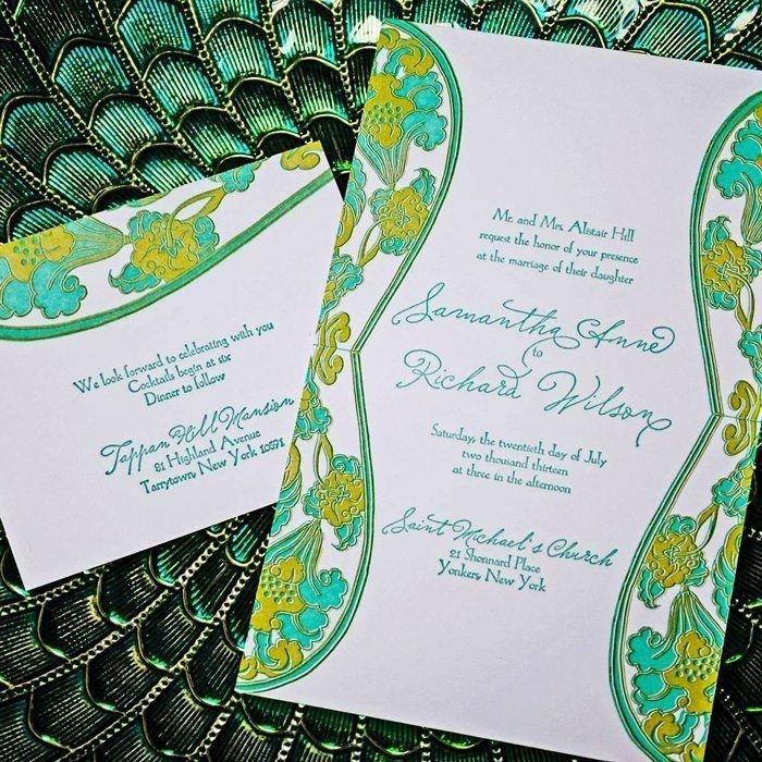 Waterlily-Luxury-Letterpress-Wedding-Invitation