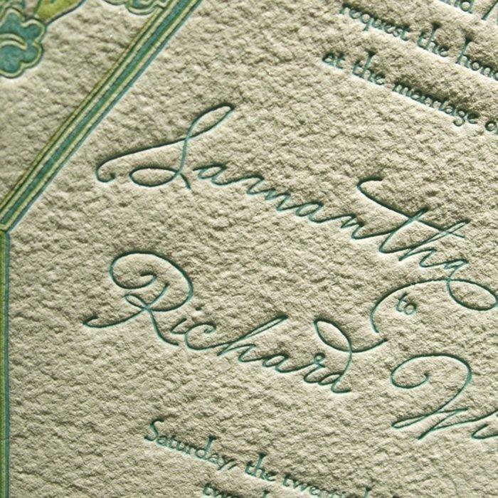 Waterlily-Luxury-Letterpress-Wedding-Invitation-Close-Up