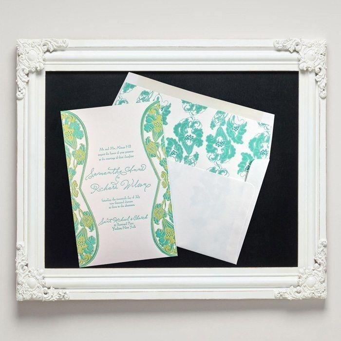 Waterlily Letterpress Wedding Invitations from Letterpress Jess