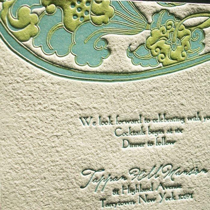 Waterlily-Luxury-Letterpress-Wedding-Reception-Card-Detail