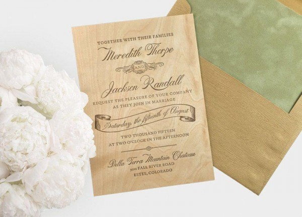 Woodland-Letterpress-Wood-Wedding-Invitation