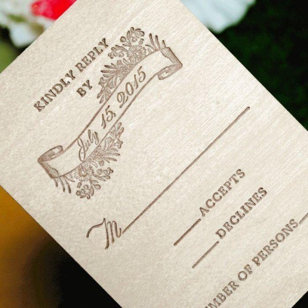 Woodland-Luxury-Letterpress-Response-Card