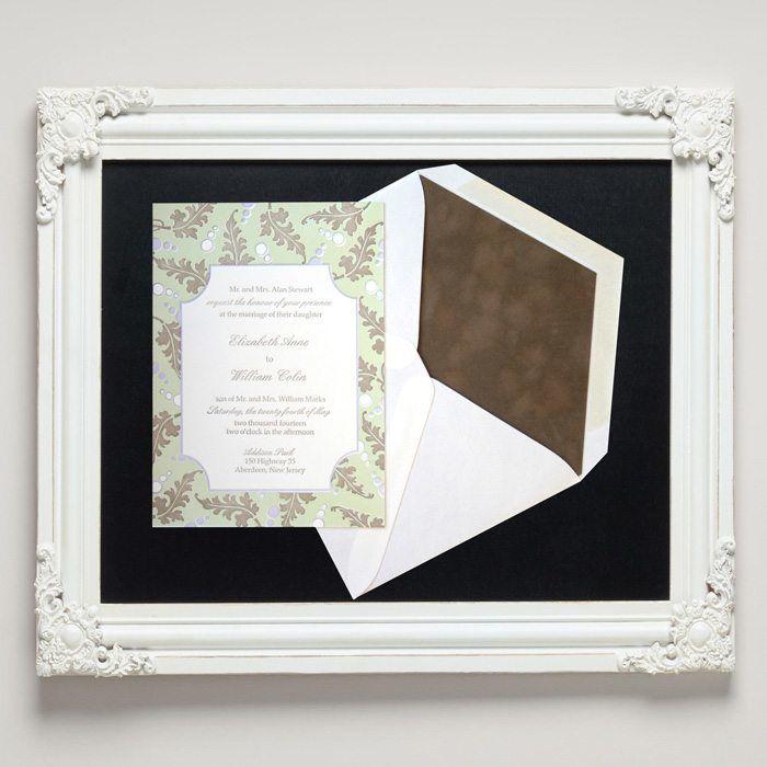 Alberta Leaves Letterpress Wedding Invitations from Letterpress Jess