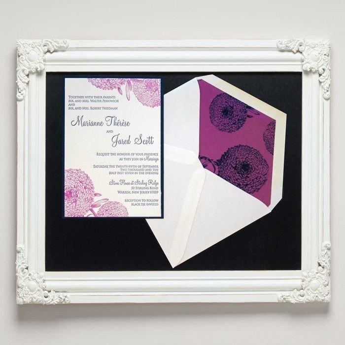 Autumn Mum Letterpress Wedding Invitations from Letterpress Jess