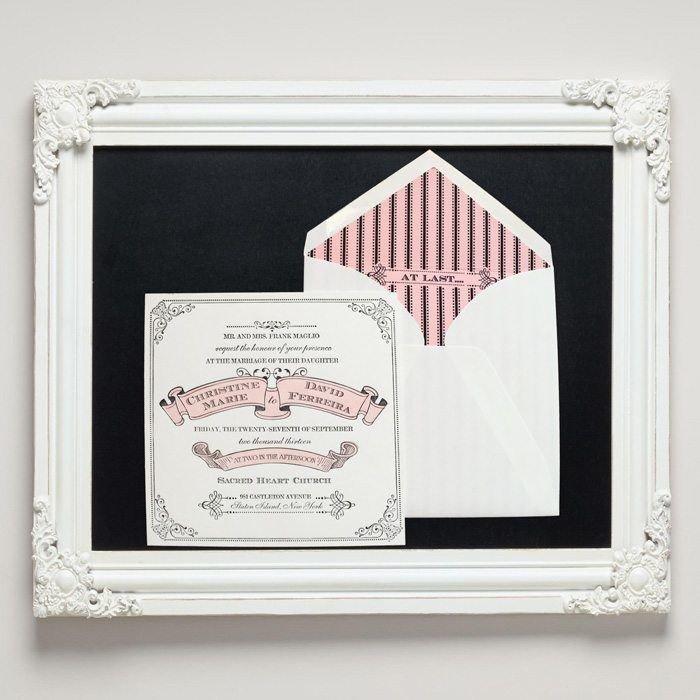 Banner Letterpress Wedding Invitations from Letterpress Jess