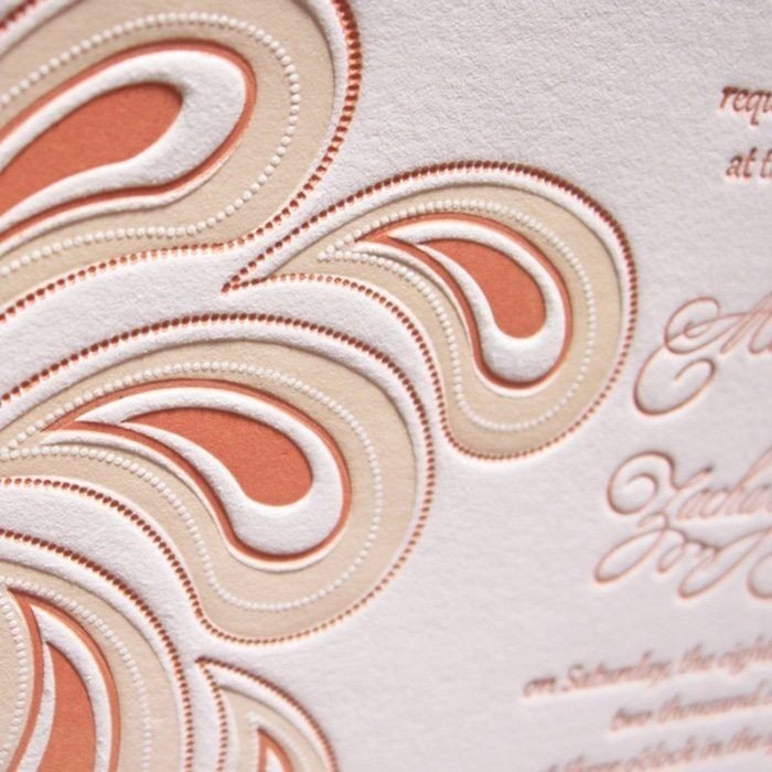 Paisley-Luxury-Letterpress-Wedding-Invite-Detail