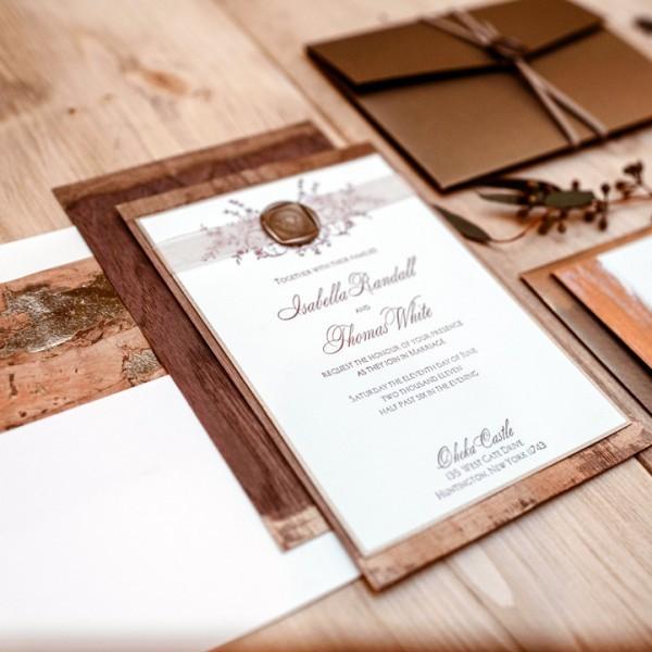 Rosalie luxury letterpress wedding invitations from Letterpress Jess