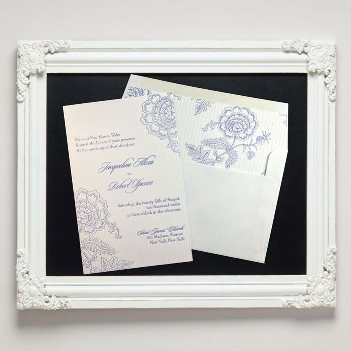 Savannah Letterpress Wedding Invitations from Letterpress Jess