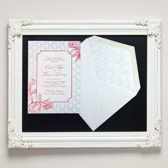 Tropic Letterpress Wedding Invitations from Letterpress Jess