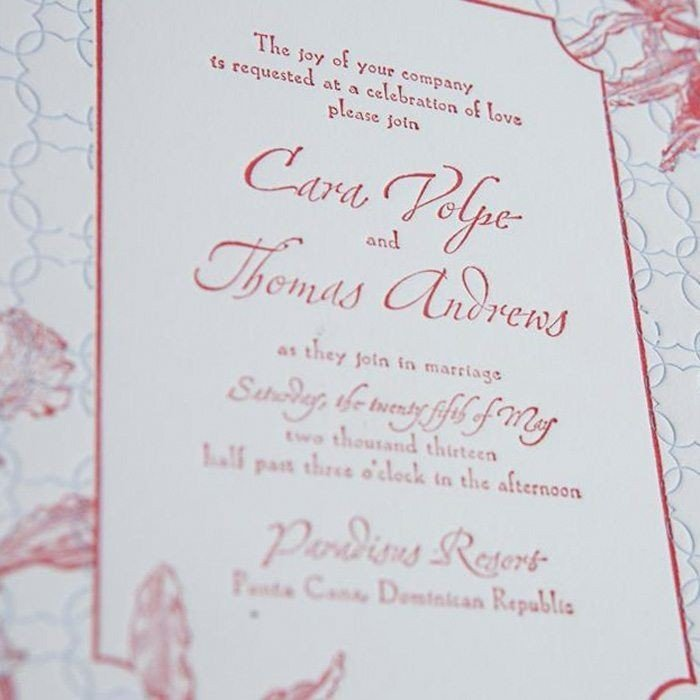 Tropic-Luxury-Letterpress-Wedding-Invite-Detail