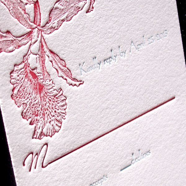 Tropic-Luxury-Letterpress-Wedding-Response-Card