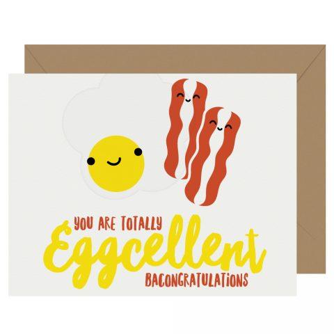 Eggcellent Letterpress Card Cutie Kawaii