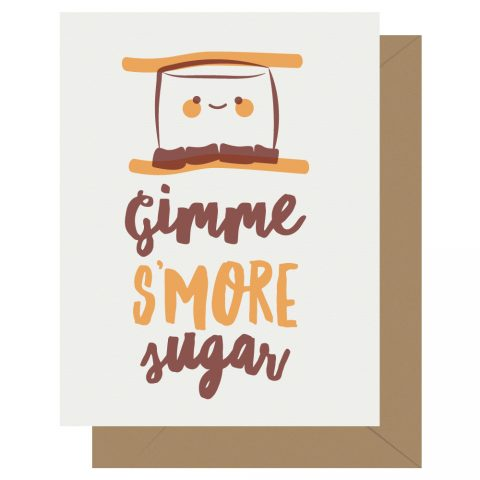 Gimme S'more Sugar Letterpress Card Cutie Kawaii