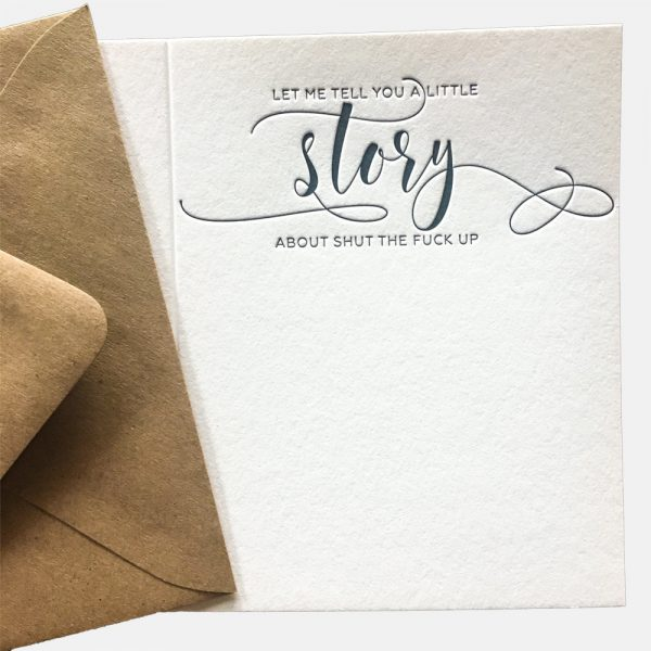 Tell-You-a-Little-Story-Calligraphy-Letterpress-Card