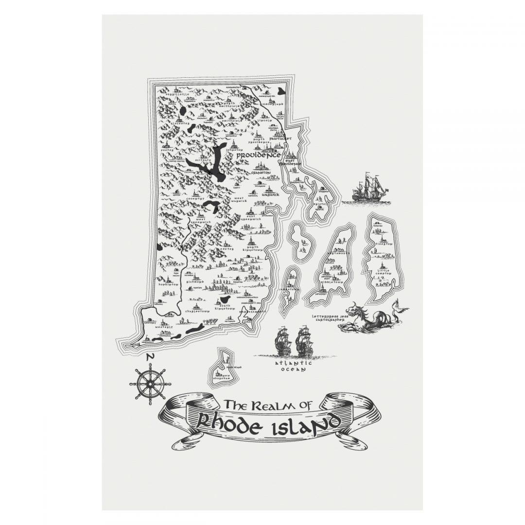Letterpress Jess Realm of Rhode Island Art Print