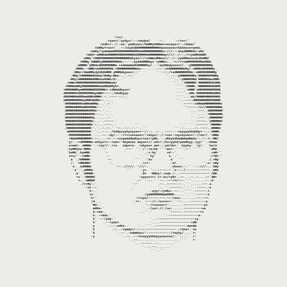 Dwight Schrute ASCII Letterpress Art Print
