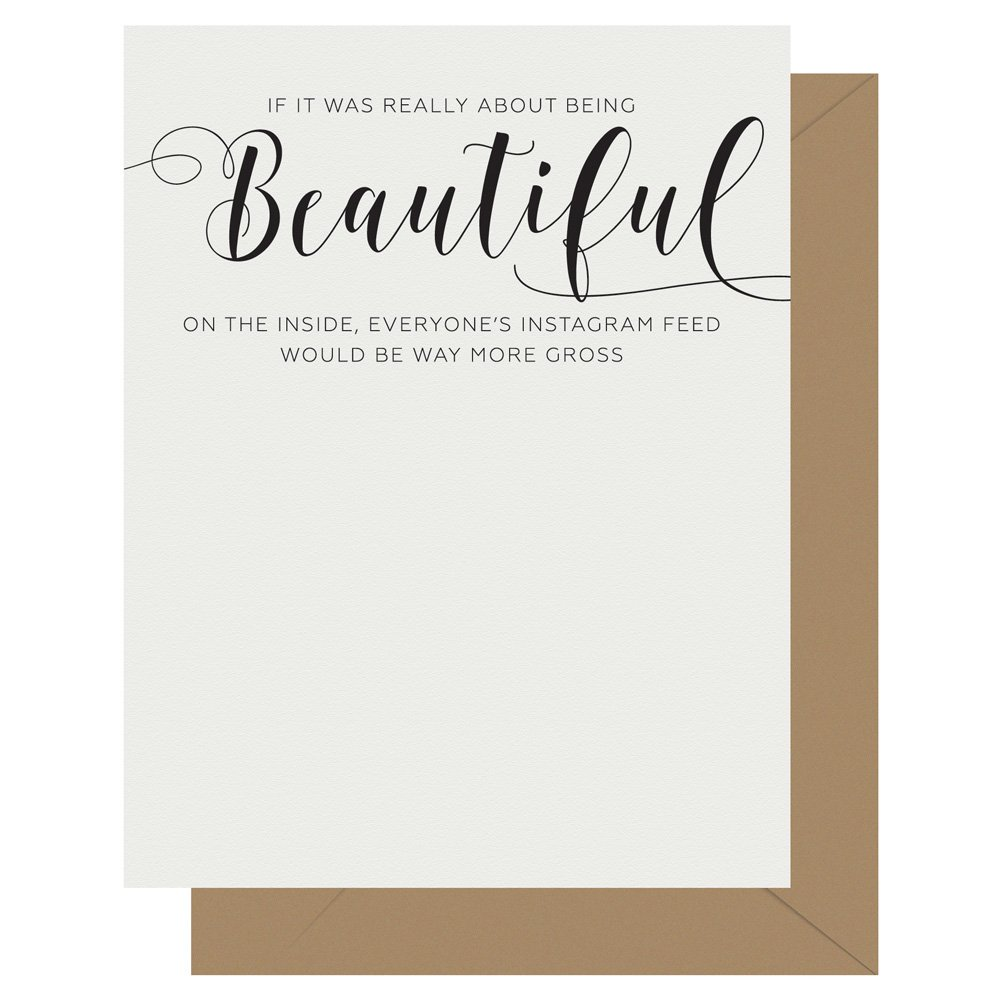 Beautiful Crass Calligraphy Letterpress Card