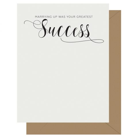 Success Crass Calligraphy Letterpress Card